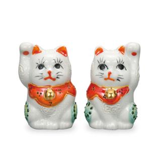 2.2号ペア招猫 白盛