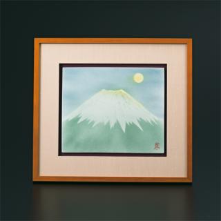 陶額 月見富士  中村陶志人