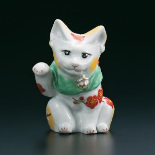 4号招き猫 紅白梅  古田弘毅