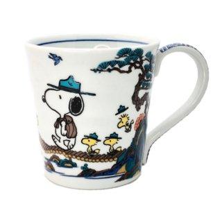九谷焼スヌーピーマグカップ 山水
