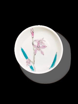 色絵紫蘭豆皿