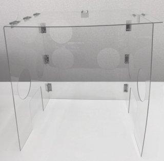 挿管防護ボックス(穴なし)