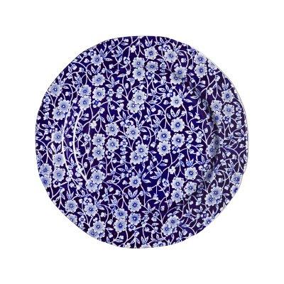 Burleigh(バーレイ) プレートM 21.5cm <Blue Calico>ブルーキャリコ