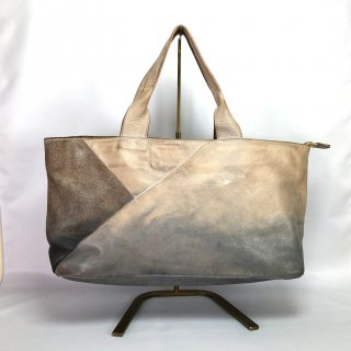 CORSIA /コルシア 手提げBAG 横長超軽量!  手染めレザー 洗い加工 made in ITALY