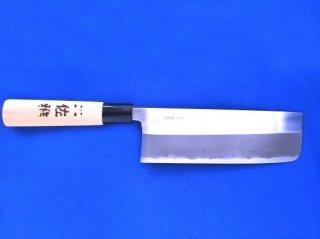 土佐雅 磨き 青鋼 菜切 幅広 5.5寸