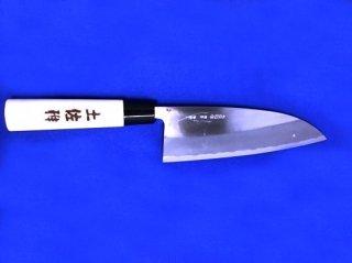 土佐雅 磨き 青鋼 出刃包丁 両刃6寸