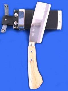 土佐雅 鉈 両刃 5寸 青鋼