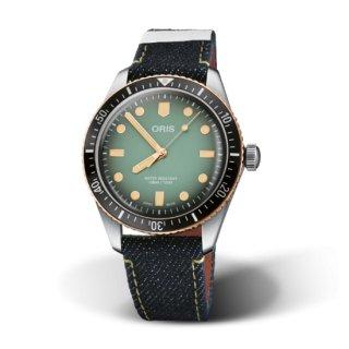 ORIS Divers[オリス ダイバーズ] オリス×桃太郎ジーンズ 40.00 MM, 1.575 インチ ステンレススティール