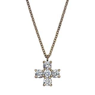 K18 クロス ダイヤモンドネックレス Croix(クロワ)  0.27ctの商品画像