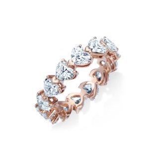 K18 ハート ダイヤモンド フルエタニティ リング 約2.7ctの商品画像