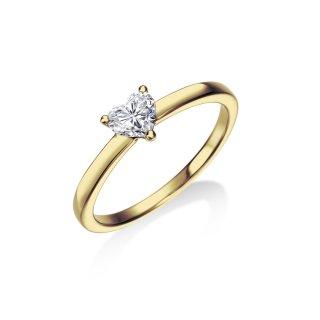 K18 一粒ハートダイヤモンドリング 0.383ct F VS2の商品画像