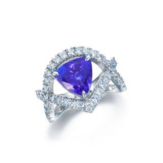 Pt プラチナ タンザナイト リング 2.58ct (ダイヤモンド0.878ct)の商品画像