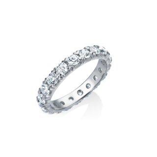 Pt ダイヤモンド フルエタニティ ピンキーリング 0.8ct G  VSの商品画像