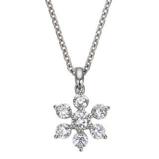 Pt プラチナ ダイヤモンドネックレス Neige(ネージュ) 0.24ctの商品画像