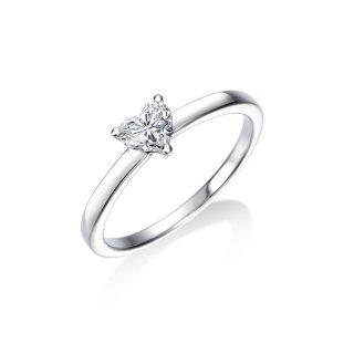 Pt 一粒ハートダイヤモンドリング 0.336ct D SI1の商品画像