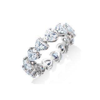 Pt950 ハート ダイヤモンド フルエタニティ リング 約2.70ctの商品画像