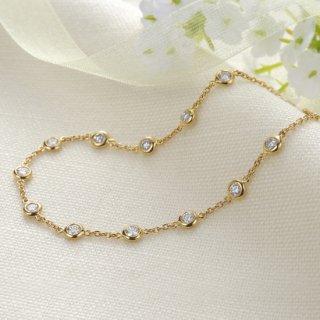 K18 12石ダイヤモンドステーションブレスレット Petit Bezel (プティベゼル) 005 0.6ctの商品画像