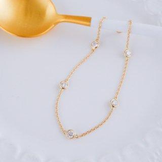 K18 5石ダイヤモンドステーションブレスレット Bezel (ベゼル) 0.5ctの商品画像