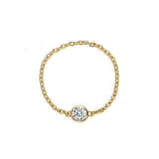 K18 ダイヤモンド チェーンリング Bezel (ベゼル) 0.1ctの商品画像