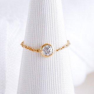 K18 ダイヤモンド チェーンリング Grand Bezel (グランベゼル) 0.2ct G SI2 VERY GOODの商品画像
