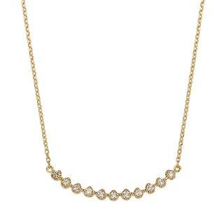 K18 11石 ダイヤモンド ネックレス Horizon (オリゾン) 48cmの商品画像