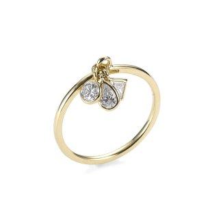 K18 スリーストーン ダイヤモンドリング Trois lumiere (トロワ・ルミエール)0.3ctの商品画像