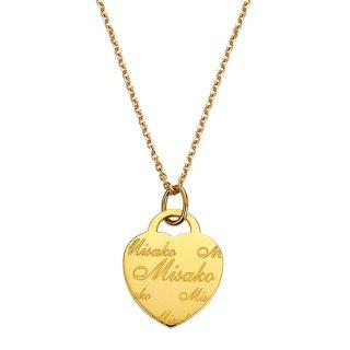 K18 ネームネックレス Heart (ハート)の商品画像