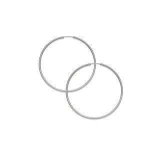 K18WG フープピアス アンフィニ 1.5mm × 40mmの商品画像
