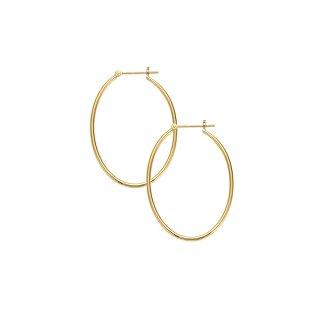 K18 フープピアス Oval (オーバル) 鏡面仕上げの商品画像