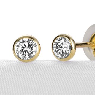 K18 ダイヤモンド ピアス Bezel (ベゼル) 0.2ct の商品画像