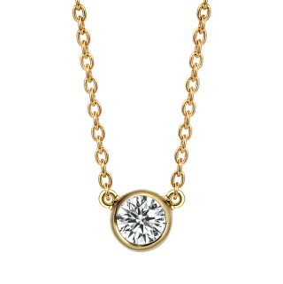 K18 ダイヤモンドネックレス Grand Bezel (グランベゼル)  0.2ct DEFG SI VERYGOODの商品画像