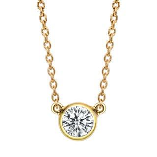 K18 ダイヤモンドネックレス Grand Bezel (グランベゼル)  0.3ct EFG SI VERYGOODの商品画像