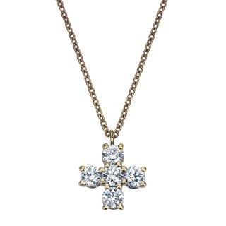 K18 クロス ダイヤモンドネックレス Croix(クロワ)  0.41ctの商品画像