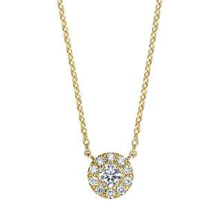 【新作】K18 ダイヤモンドネックレス Fleur(フルール) 0.1ct EXCELLENT エクセレントカット の商品画像
