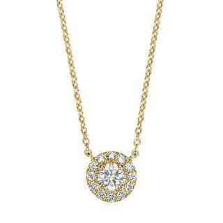 【新作】K18 ダイヤモンドネックレス Fleur(フルール) 0.2ct EXCELLENT エクセレントカットの商品画像