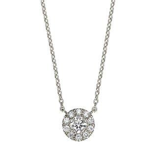【新作】Pt ダイヤモンドネックレス Fleur(フルール) 0.1ct EXCELLENT エクセレントカットの商品画像