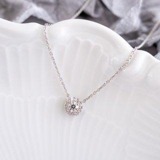 【新作】Pt ダイヤモンドネックレス Fleur(フルール) 0.2ct EXCELLENT エクセレントカットの商品画像