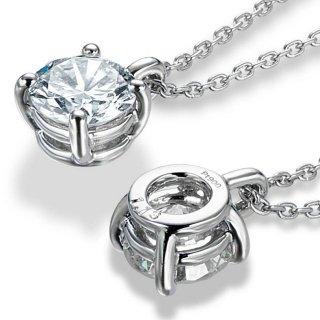 【ジュエリーリフォーム】Pt ダイヤモンド ネックレス 1ct の商品画像