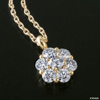 K18 ダイヤモンドパヴェ 1.0CT フラワーネックレスの商品画像