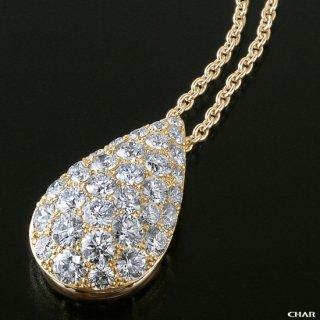 K18 ダイヤモンドパヴェ 2.0CT ドロップネックレスの商品画像