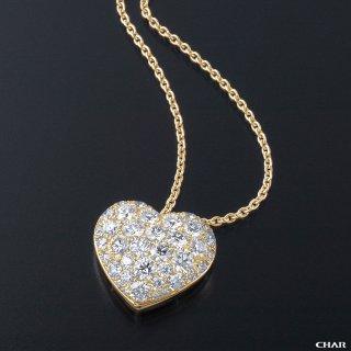 K18 ダイヤモンドパヴェ 3.0CT ハートネックレスの商品画像