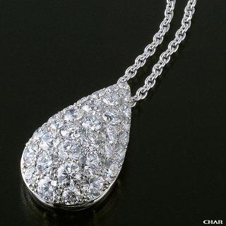 Pt950 ダイヤモンドパヴェ 2.0CT ドロップネックレスの商品画像