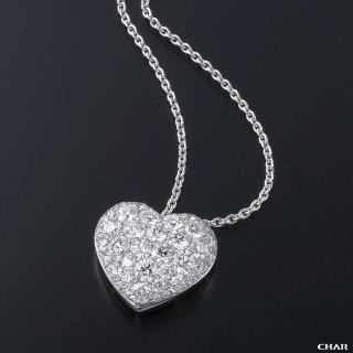 Pt950 ダイヤモンドパヴェ 3.0CT ハートネックレスの商品画像
