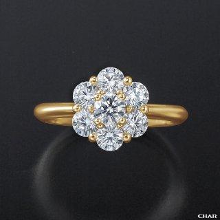 K18 ダイヤモンドパヴェ 1.0CT フラワーリングの商品画像
