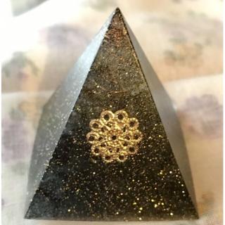 オルゴナイト ピラミッド オブジェ 置物 漆黒(チャーム小)