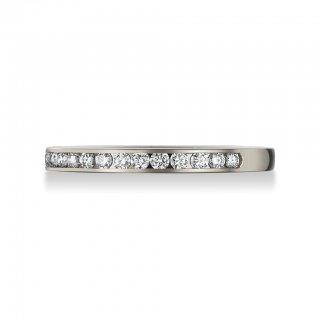 Pt950 チャネルセッティング ダイヤモンドハーフエタニティリングの商品画像