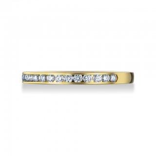 K18 チャネルセッティング ダイヤモンドハーフエタニティリングの商品画像