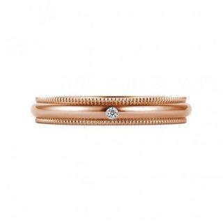 K18RG ミルグレイン with ダイヤモンド 3mmの商品画像