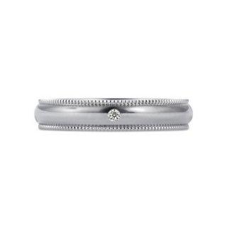 Pt950 ミルグレイン with ダイヤモンド 3.5mmの商品画像