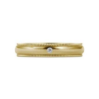 K18YG ミルグレイン with ダイヤモンド 3.5mmの商品画像